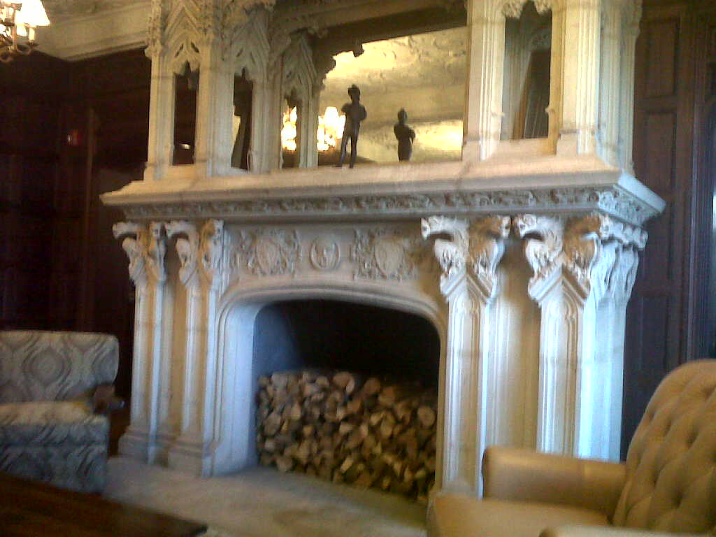 17th Centure Fireplace Imported From Europe - Sefton Dodge Mansion of the 1920s Now Mill Neck Manor